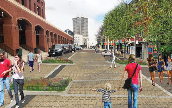 Wide Streets Provide Lots of Options for $25 Million Streetscaping in Downtown Greensboro