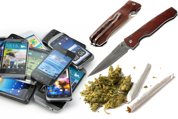 Cell Phones, Drugs, Knives Make Frequent Appearances at Courthouse Check Point